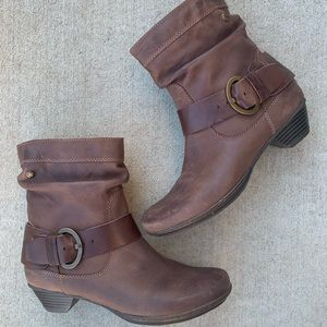 Pikolinos Brujas Brown Leather Buckle Boots 38